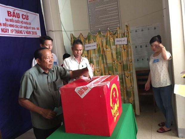 Organizan votaciones tempranas en comuna insular de Kien Giang hinh anh 1