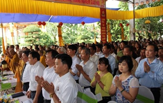 Conmemoran en Vietnam aniversario 2560 del nacimiento e iluminacion de Buda hinh anh 1