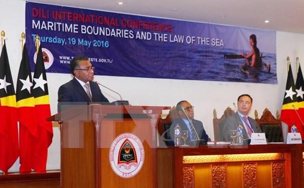 Conferencia en Timor Leste aborda los limites maritimos y el derecho del mar hinh anh 1