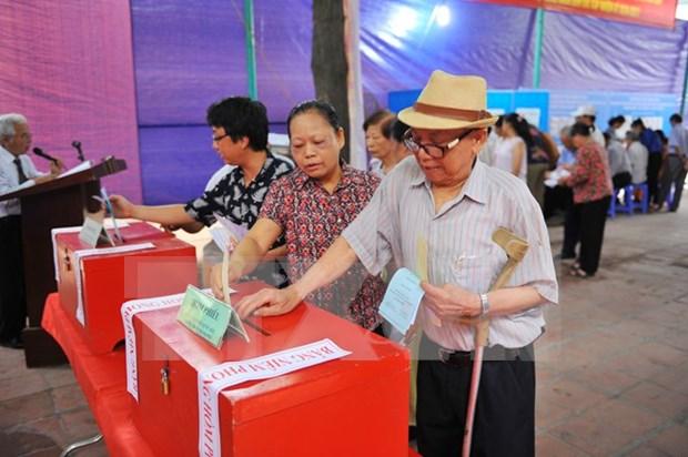 Inauguran elecciones generales en todo Vietnam hinh anh 1