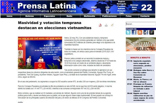 Prensa internacional informa sobre elecciones generales de Vietnam hinh anh 1
