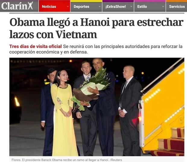 Medios de comunicacion argentinos resaltan actividades de Obama en Hanoi hinh anh 1