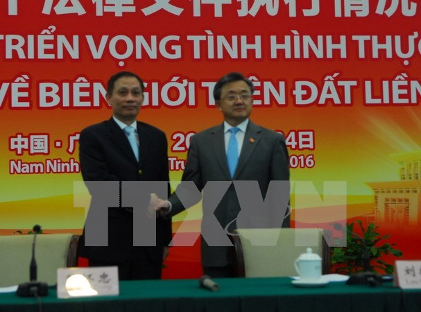 Vietnam y China revisan implementacion de acuerdos fronterizos hinh anh 1