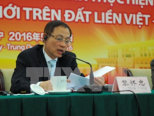 Vicecanciller vietnamita visita region autonoma china de Guangxi hinh anh 1