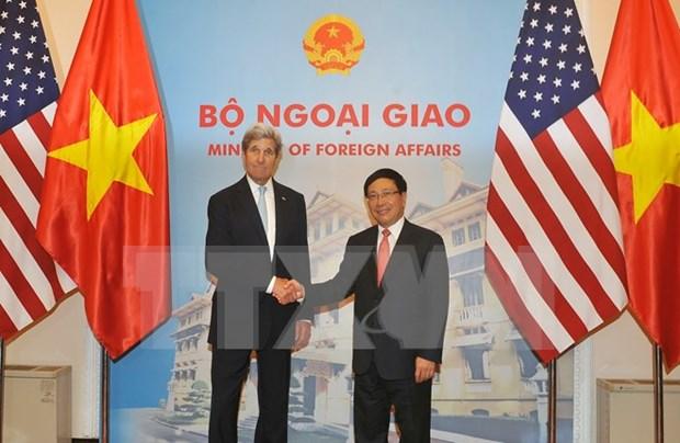 Cancilleres de Vietnam y EE.UU. satisfechos con logros de reuniones bilaterales hinh anh 1
