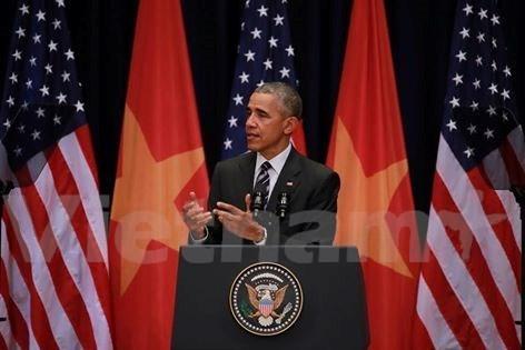Obama habla sobre relaciones Vietnam – EE.UU. ante estudiantes hanoyenses hinh anh 1