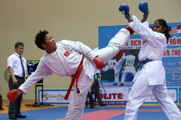 Participan karatecas extranjeros en torneo abierto en Vietnam hinh anh 1