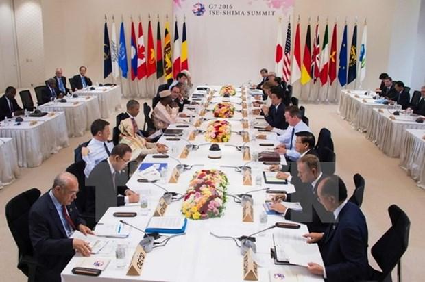 Lideres de G7 expresan preocupaciones por situacion en el Mar del Este hinh anh 1