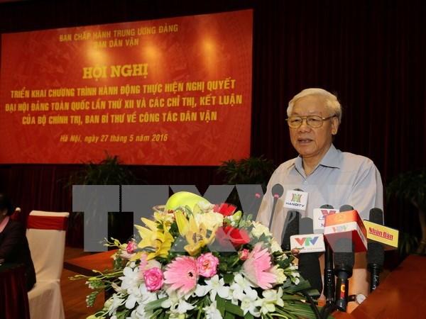Movilizacion de masas, tarea estrategica para causa revolucionaria de Vietnam hinh anh 1
