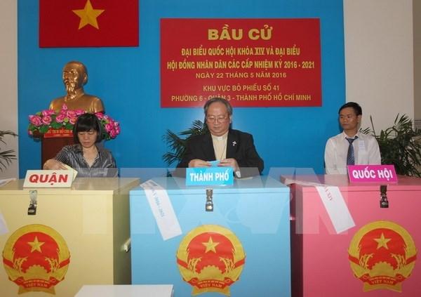 Ciudad Ho Chi Minh cumple exitosamente escrutinio de elecciones hinh anh 1