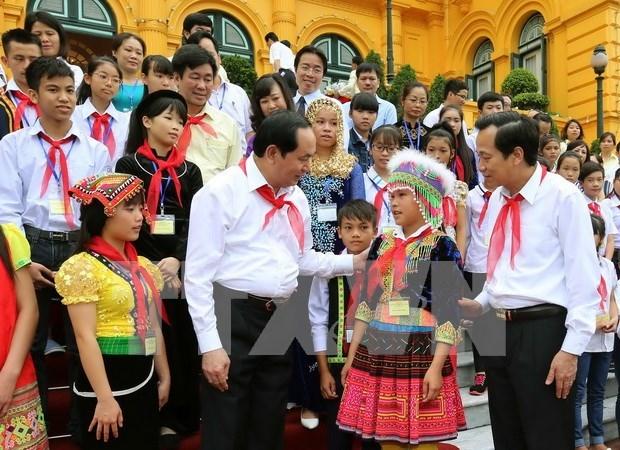 Atencion infantil es tarea estrategica de Vietnam, afirmo presidente hinh anh 1