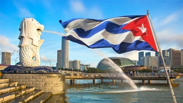 Vicepresidente del Consejo de Ministros de Cuba visita Singapur hinh anh 1