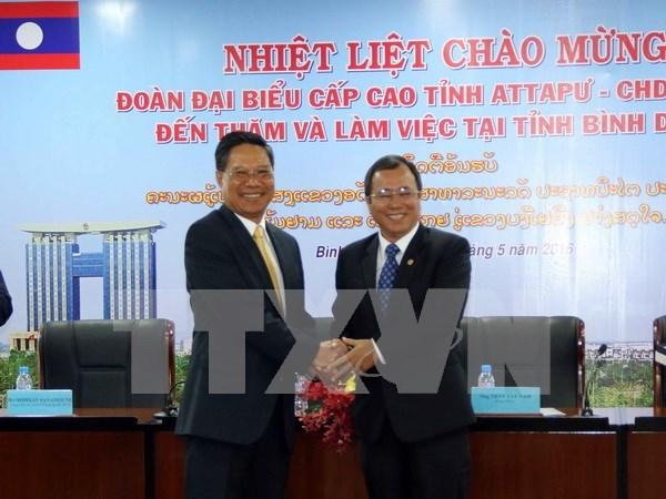 Provincias de Vietnam y Laos robustecen cooperacion en inversion hinh anh 1