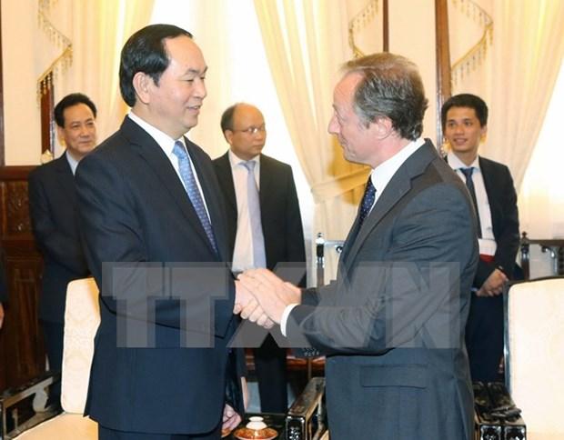 Presidente de Vietnam recibe a embajadores de Cuba y Union Europea hinh anh 1