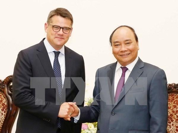 Destaca premier vietnamita importancia de cooperacion con estado aleman hinh anh 1