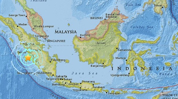 Terremoto de 6,5 grados Richter sacude isla Sumatra en Indonesia hinh anh 1