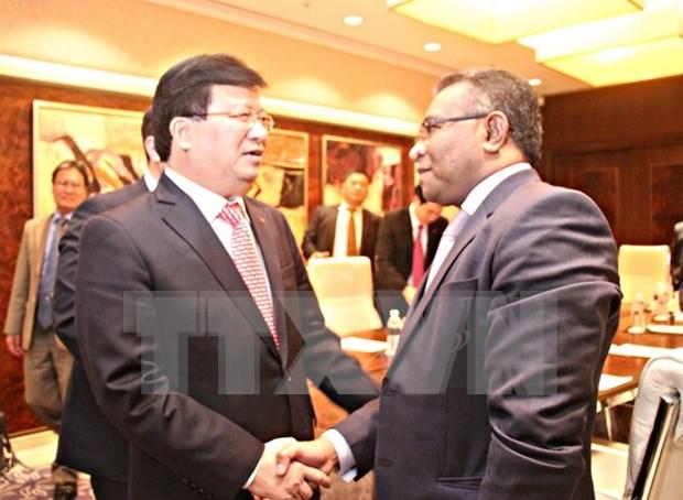 Viceprimer ministro vietnamita se reune con dirigentes de Indonesia y Timor Leste hinh anh 1