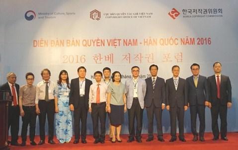 Efectuan foro sobre derechos de autor entre Vietnam y Sudcorea hinh anh 1