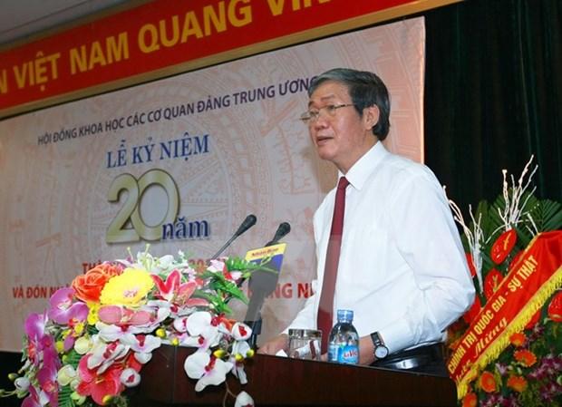 Encomian en Vietnam aportes del Consejo de Ciencia de organos partidistas centrales hinh anh 1