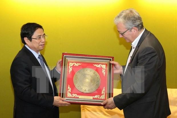 Continuan actividades de delegacion del Partido Comunista de Vietnam en Francia hinh anh 1