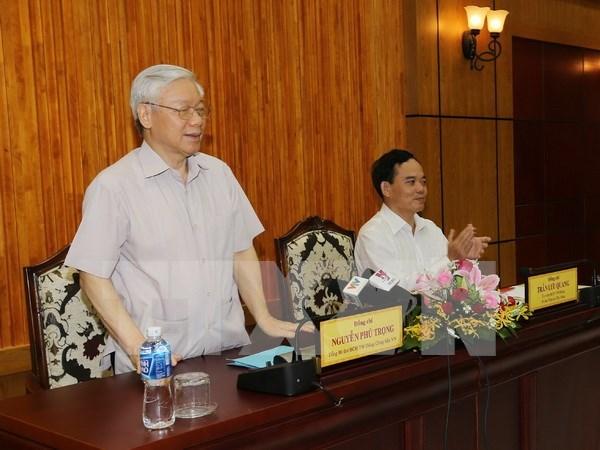 Lider partidista vietnamita recibe delegacion del Partido de Trabajadores de Corea hinh anh 1