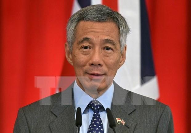 Primer ministro de Singapur visita Myanmar hinh anh 1