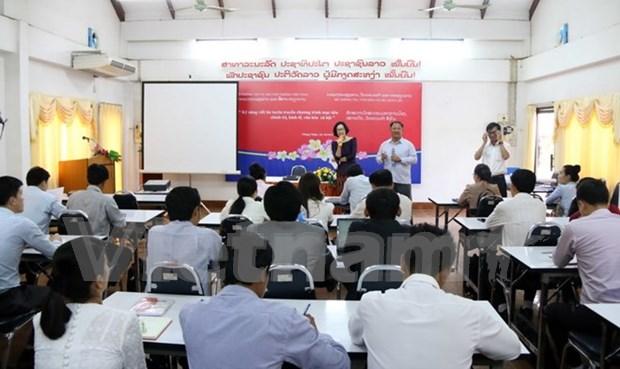 Asistencia vietnamita a Laos en formacion periodistica hinh anh 1