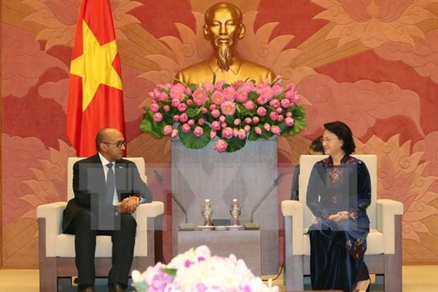 Presidenta del Parlamento de Vietnam recibe al embajador de Cuba hinh anh 1