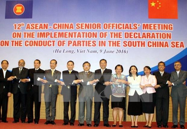 Altos funcionarios de ASEAN y China abordan temas sobre el Mar del Este hinh anh 1