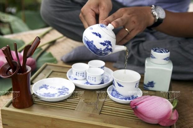 El deleite de los hanoyenses de beber te hinh anh 1