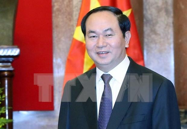 Prensa laosiana destaca proxima visita del presidente vietnamita a Laos hinh anh 1