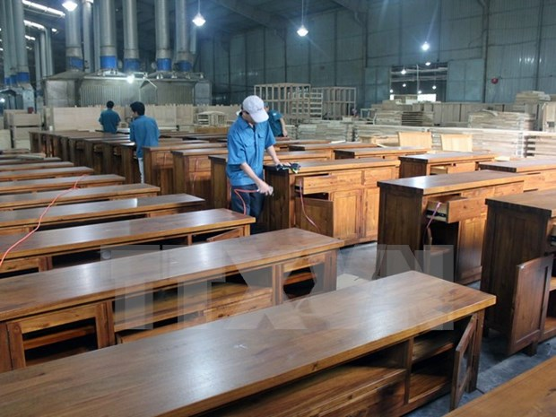 Artesania del reciclaje de madera hinh anh 1