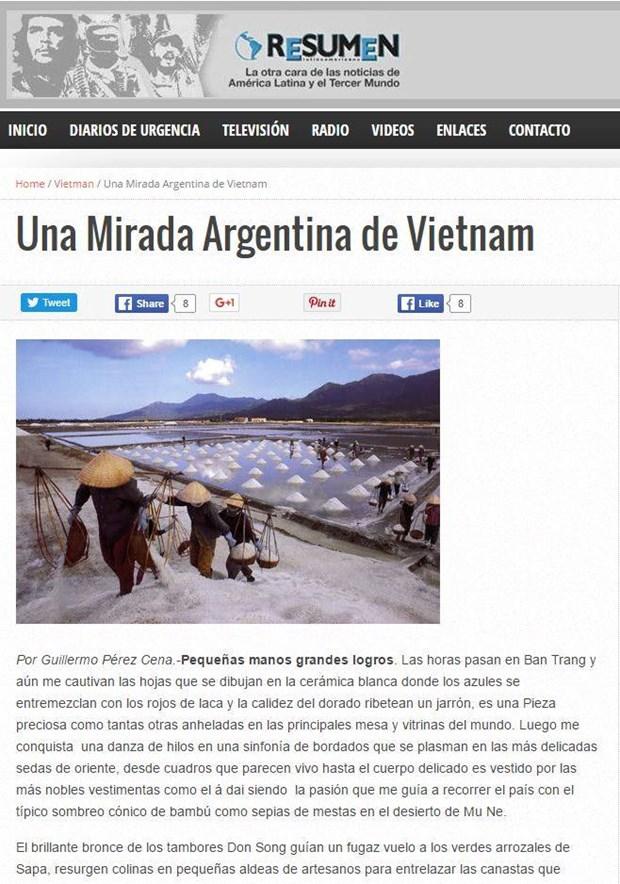 Prensa argentina resalta atracciones turisticas de Vietnam hinh anh 1