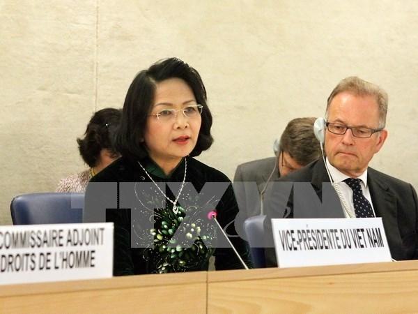 Vicepresidenta de Vietnam interviene en Consejo de Derechos Humanos en Suiza hinh anh 1