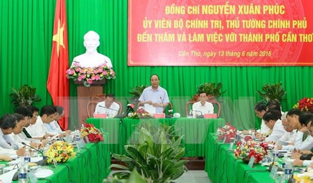 Premier insta a perfeccionar la planificacion de ciudad de Can Tho hinh anh 1