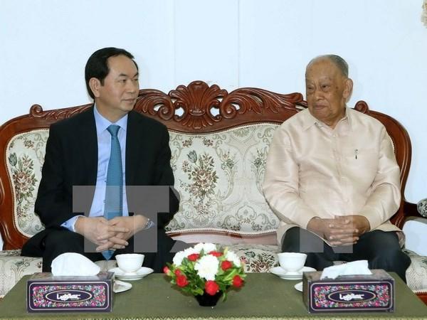 Concluye presidente de Vietnam visita estatal a Laos hinh anh 1