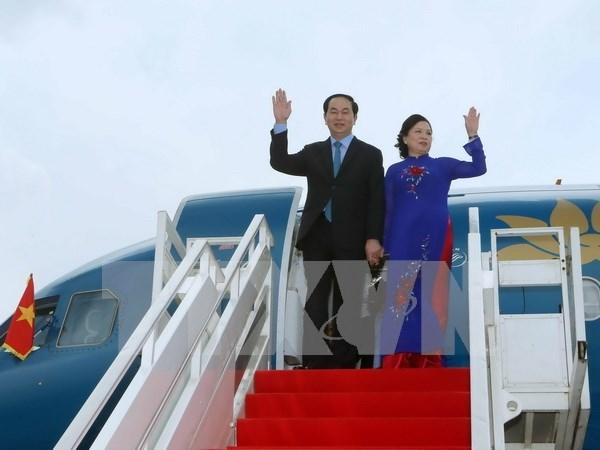 Presidente de Vietnam realiza visita estatal a Camboya hinh anh 1
