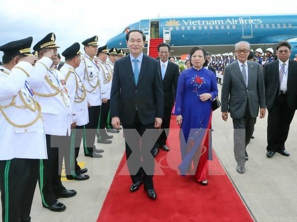 Presidente de Vietnam inicia oficialmente visita estatal a Camboya. hinh anh 1