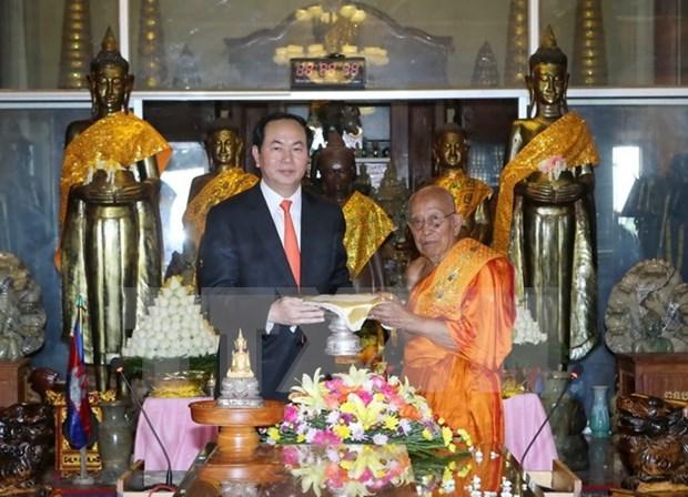 Presidente de Vietnam concluye visita estatal a Camboya hinh anh 1