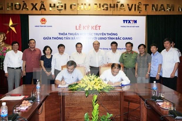 Fomentan cooperacion en comunicacion entre VNA y Bac Giang hinh anh 1