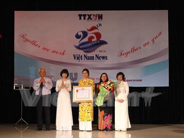 Viet Nam News marca 25 anos de desarrollo con Orden de Trabajo hinh anh 1