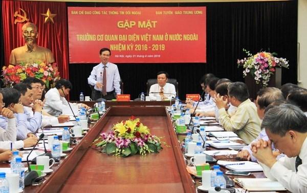 Destacan contribucion del sector diplomatico vietnamita a logros nacionales hinh anh 1