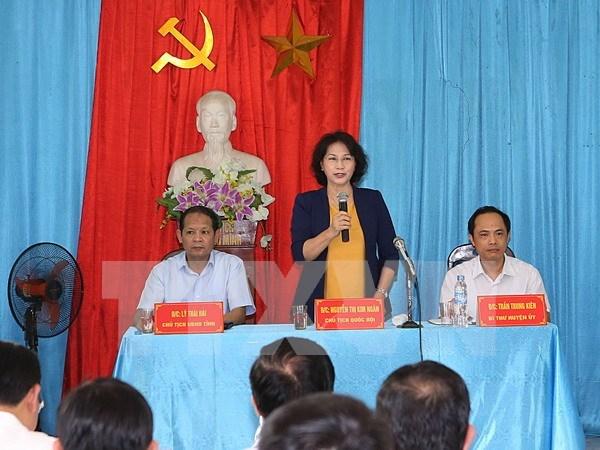 Presidenta parlamentaria urge a provincia nortena invertir en obras viales hinh anh 1