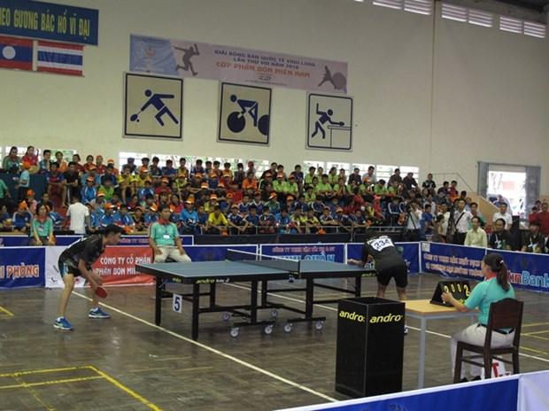 Organizan torneo internacional de tenis de mesa en provincia vietnamita hinh anh 1