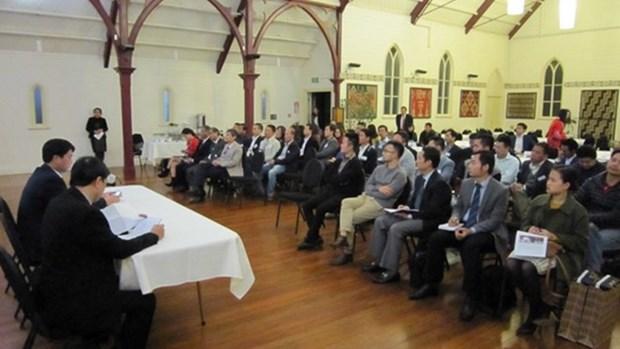 Efectuan encuentro entre empresarios vietnamitas en Nueva Zelanda hinh anh 1