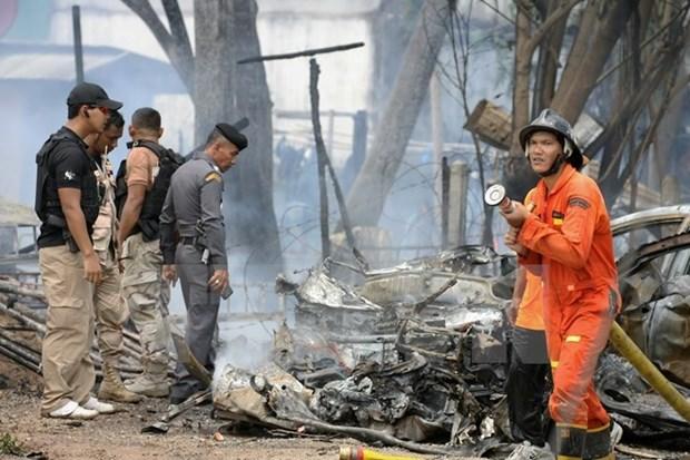 Dos lesionados en un atentado con bomba en Tailandia hinh anh 1