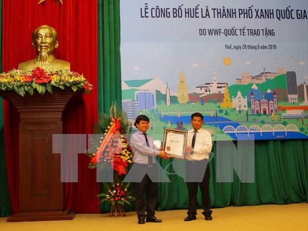 Antigua ciudadela vietnamita de Hue honrada como ciudad de Hora del Planeta hinh anh 1