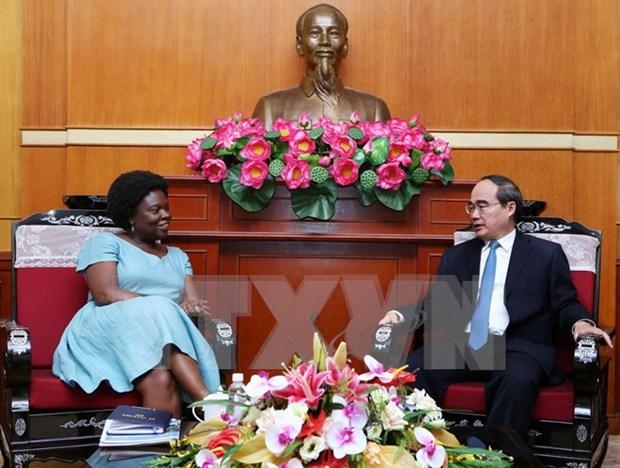 Presidente del Frente de Patria resalta aportes a Vietnam de Victoria Kwakwa hinh anh 1