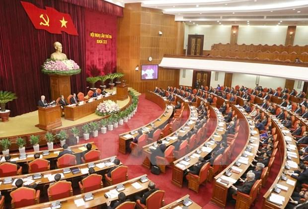Inauguran tercer pleno de Comite Central de PCV hinh anh 1