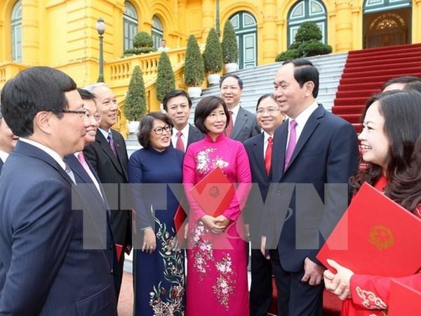 Presidente de Vietnam urge a desplegar activamente tareas diplomaticas hinh anh 1